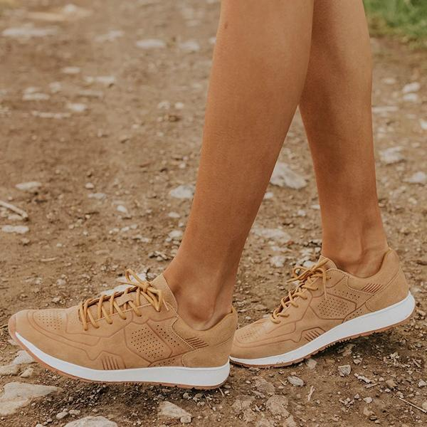 Twinklemoda Suede Casual Lace-Up Comfortable Sneakers
