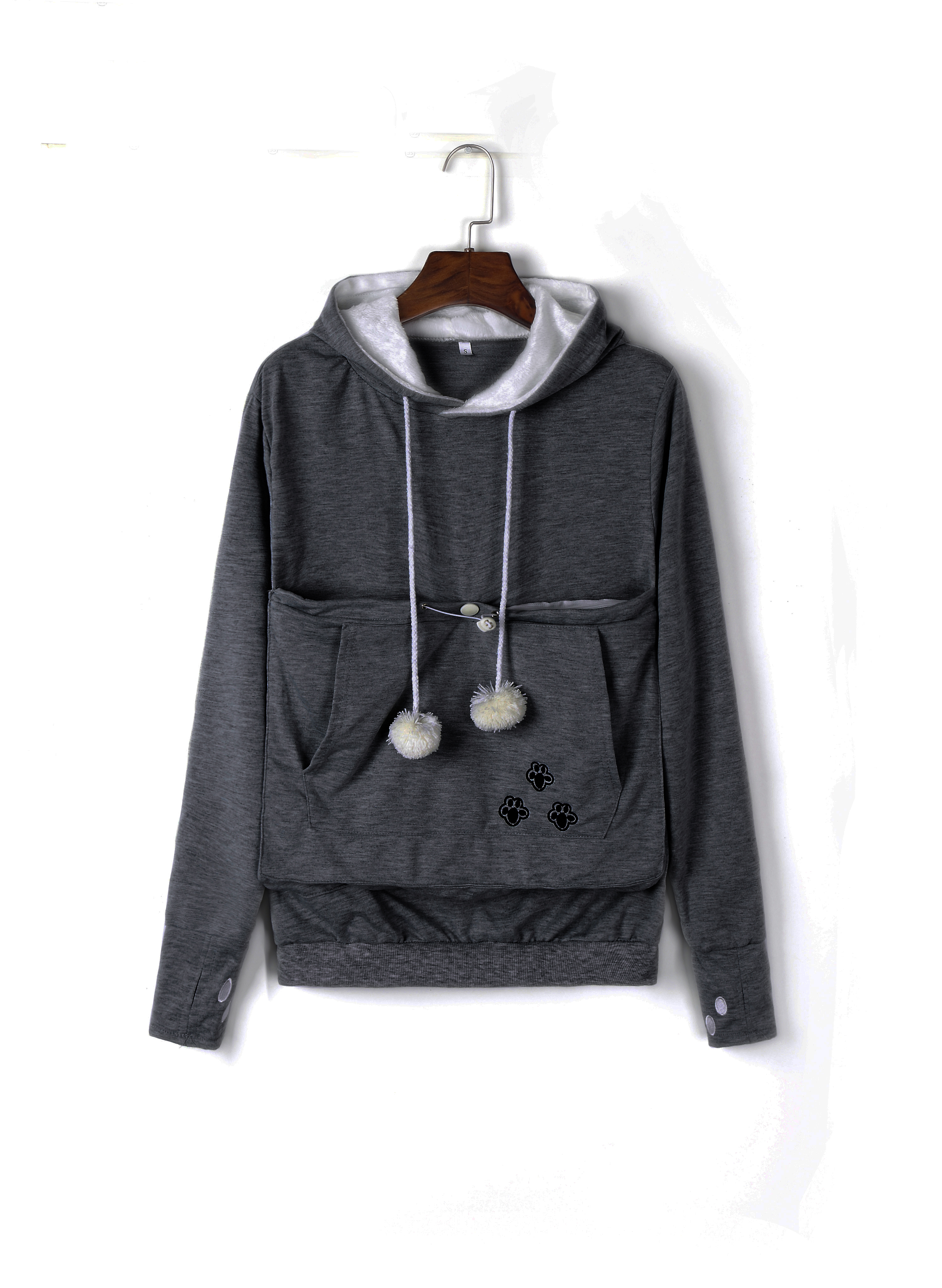 Cozy Cat Hoodie With Kangaroo Pouch-Unisex