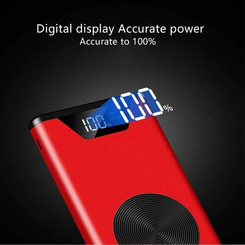 500000mAh Qi Wireless Portable Battery Charger Power Bank for Mobile Phone 2 USB
