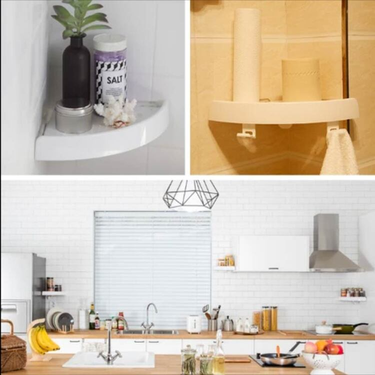 ( 50% OFF) CORNER STORAGE HOLDER SHELVES - The 2nd Half price