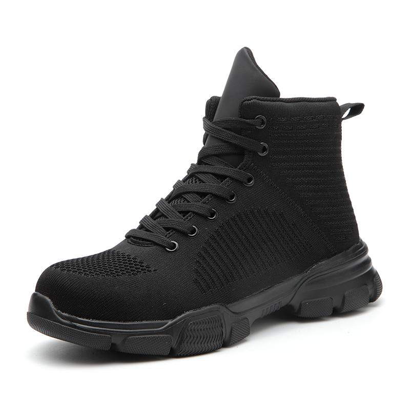 All Season Men Safety Indestructible Work Boots Anti-smashing Steel Toe Cap Boots 【Plus Size shoes】