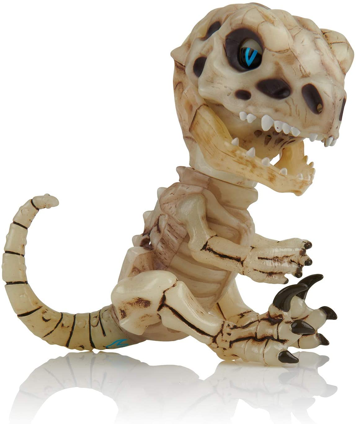 Ferocious Raptor Skeleton Finger Toy Melancholy (Sand) Color Collectible Interactive Dinosaur Toy