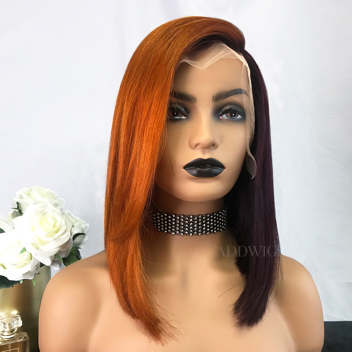 Lace Front Wigs Brown Wigs Blonde Wigs Ash Blonde Wig With Bangs 7.3 Hair Colour Wigs For Black Women