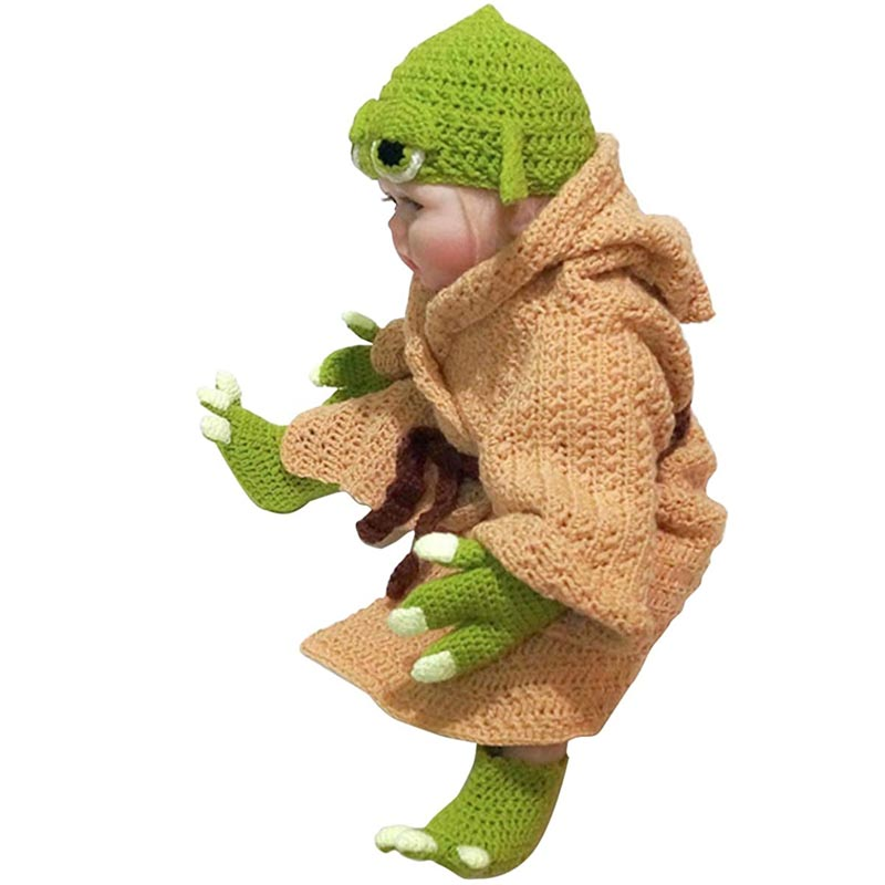 Hand Knitted Yoda Baby Clothes-5 Piece Set