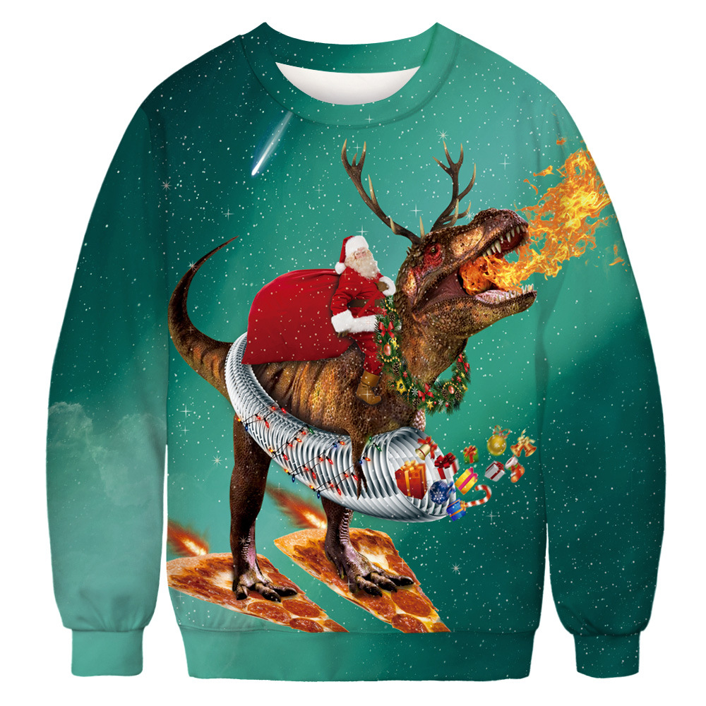 15 Ugly Christmas Sweatshirt Novelty 3D Graphic, Adult Neutral