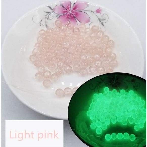 Dia 6/8/10/12mm Glow In The Dark Loose Beads Acrylic Beads Luminous Beads  For DIY Jewelry Making Bracelet Accessories