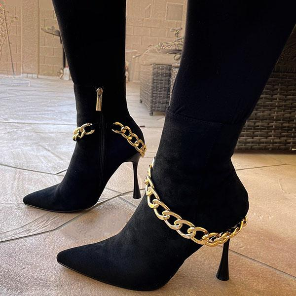 Faddishshoes Black/Snake High Heeled Boots