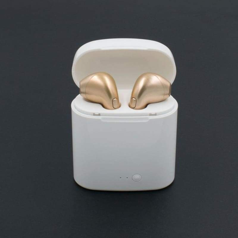 New Mini Bluetooth Earbuds Wireless Earphone Stereo Handsfree Headset Mic For All Smart Phone (Single/Double earbuds with or without charging case)