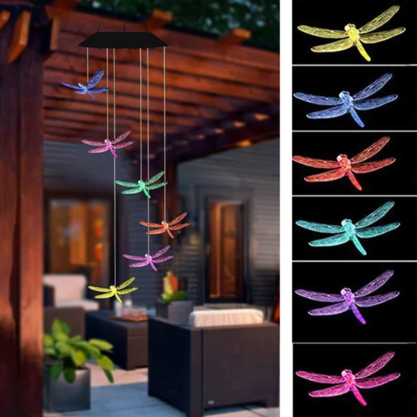 【50% Off Christmas Promotion】-Solar Powered Wind Chimes Lights