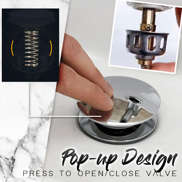✨ Holiday promotion✨ Basin Pop-up Drain Filter