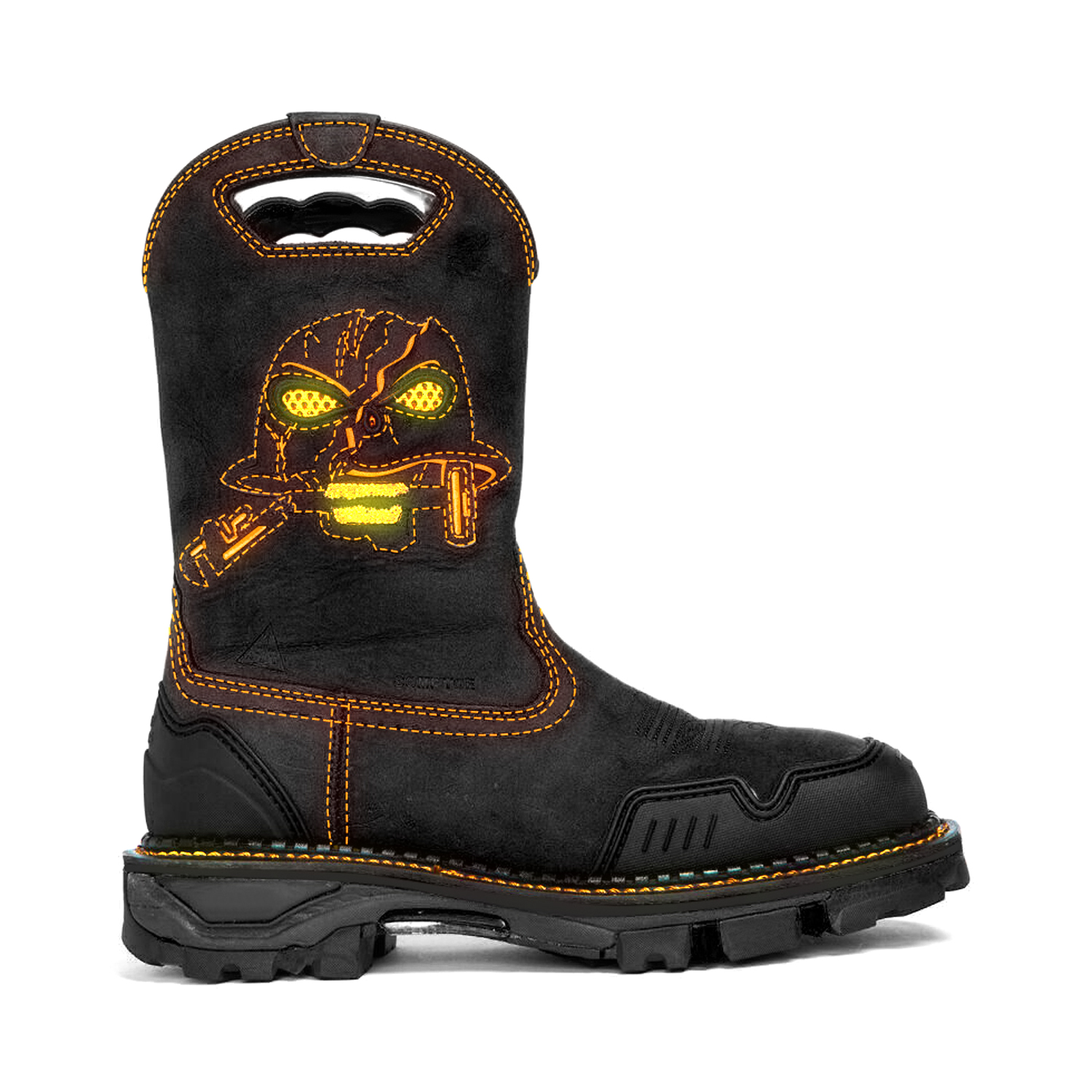 (🛒The Last Day! 50% Off🤣) Men's Black&Green Psychic Skull Western Boots