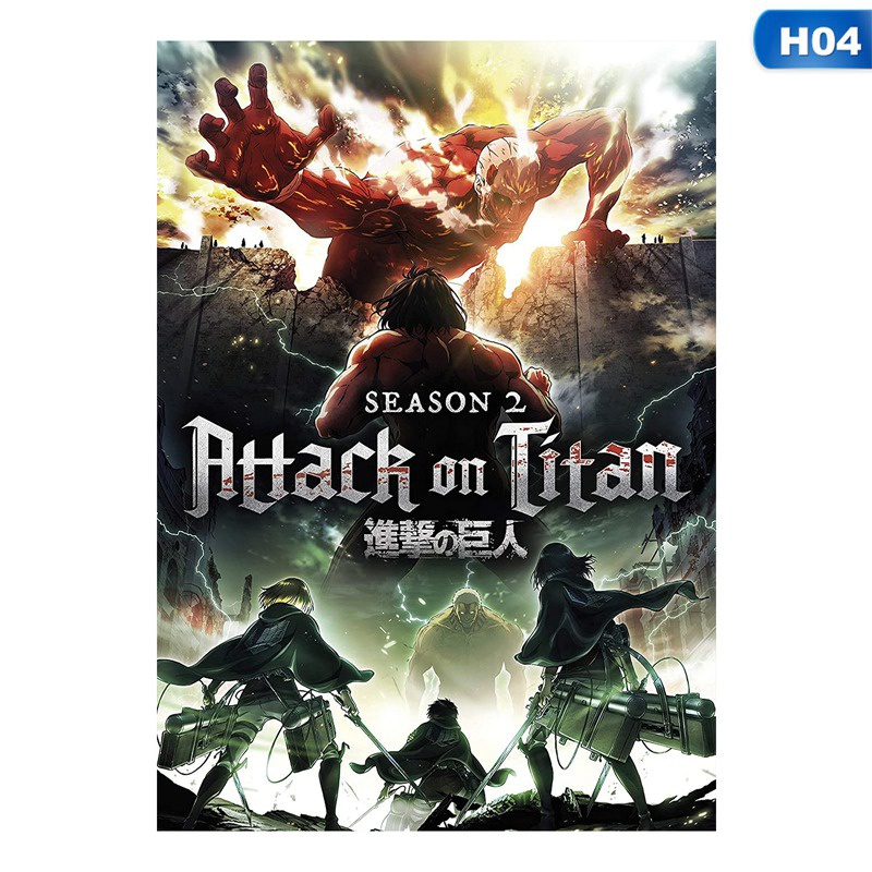 14 Styles Anime Attack On Titan Poster