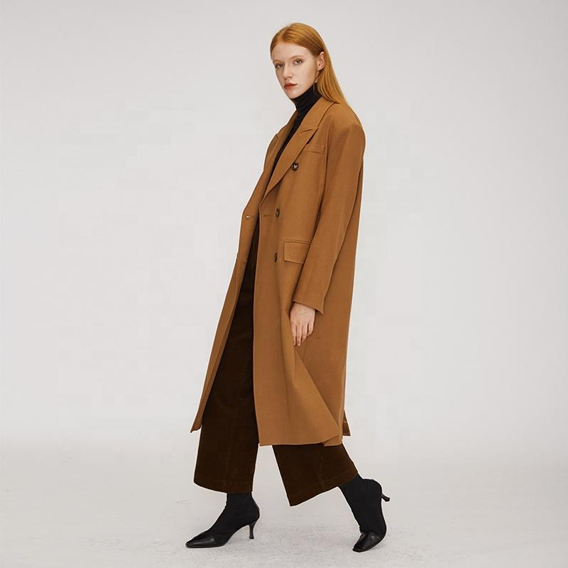 vintage  boutique trend camel double breasted neutral style women long suit-Casual Windbreaker 2.11
