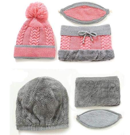 🎅50% OFF --3 in 1 Winter Knitted Beanie Hat Face Neck Warmer Set