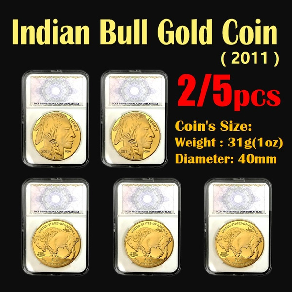 2/5pcs 1oz 24K gold American Liberty Coins Buffalo Coin American Eagle coin Beautiful Coins Collection Copy Uncirculated (3Styles to choose)