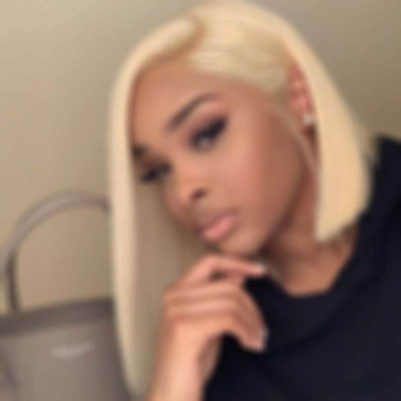 Lace Front Wigs Platinum Blonde Wig Yellow Blonde 613 Full Lace Wig Curly