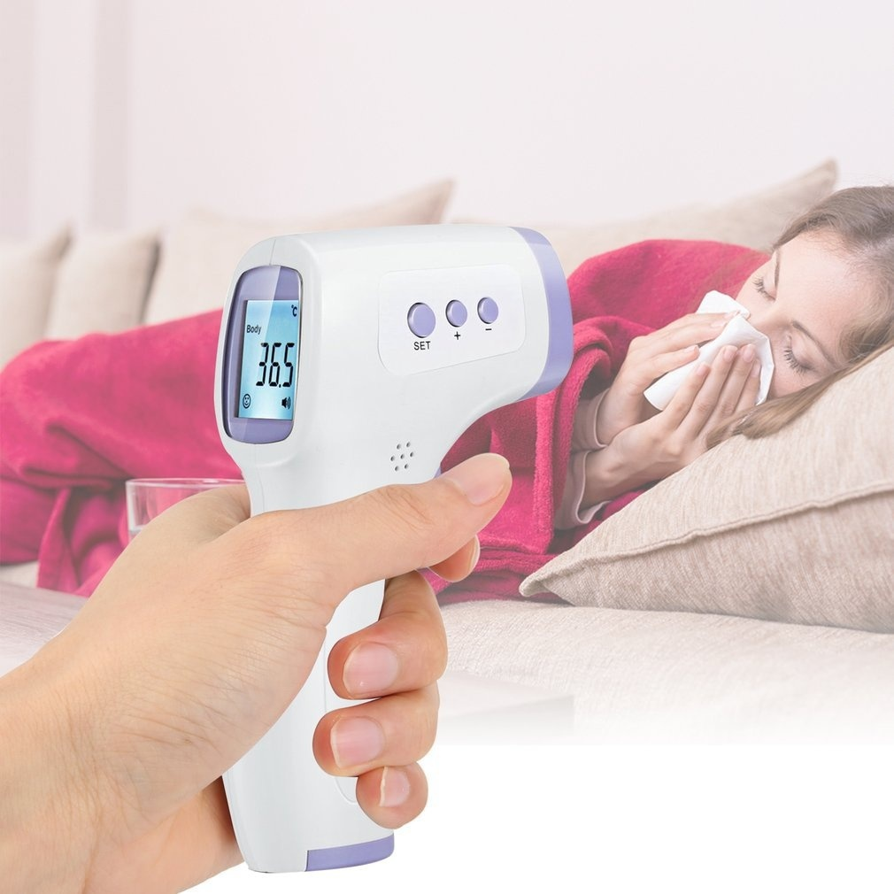 Non-Contact Infrared Forehead Thermometer For Adults And Children Lcd Display