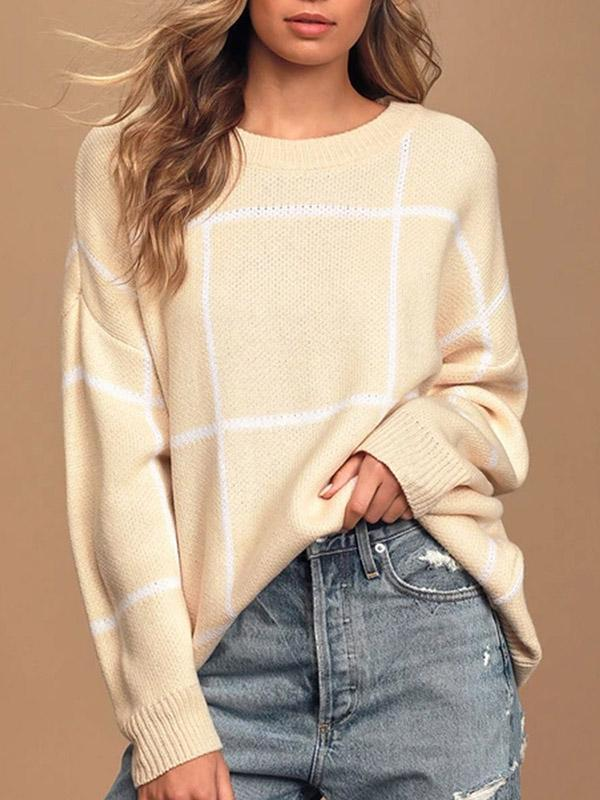 Bonnieshoes Vacation Long Sleeve Loose Knitting Sweater