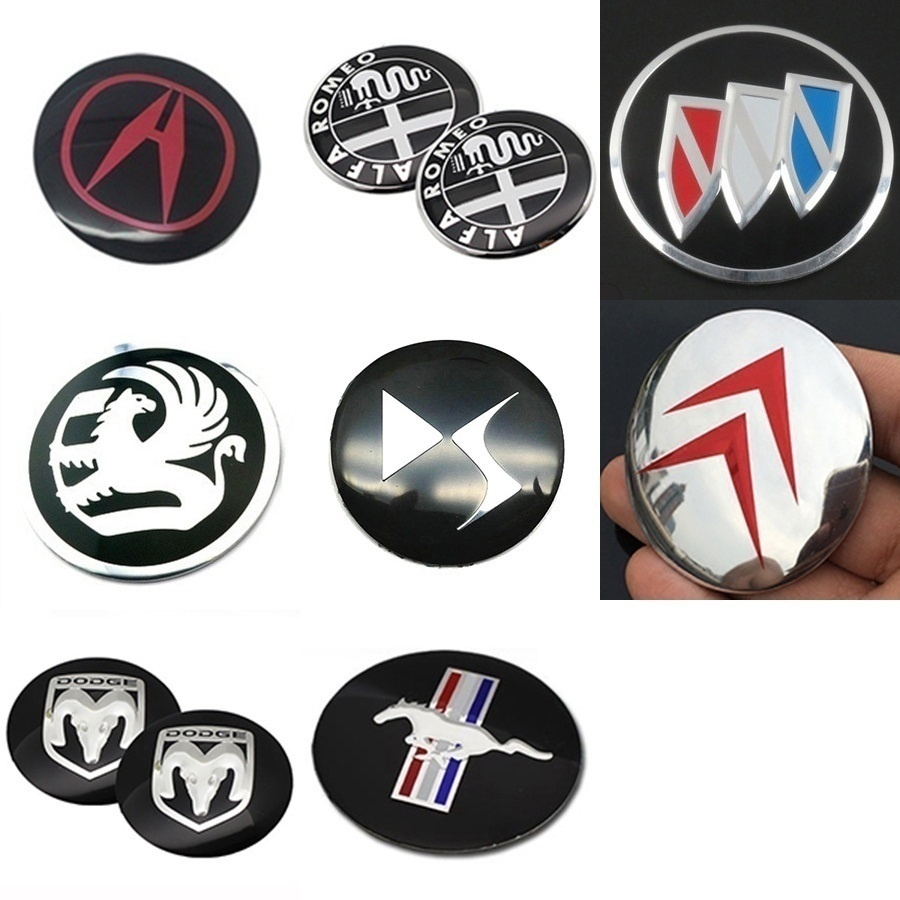 4pcs/lot 56.5mm 2.2'' Car Wheel Center Hub Cap Stickers Decals Universal for Audi BMW Mercedes Vauxhall Renault Citroen Ford Mustang Chevrolet Toyota Honda Hyundai etc.