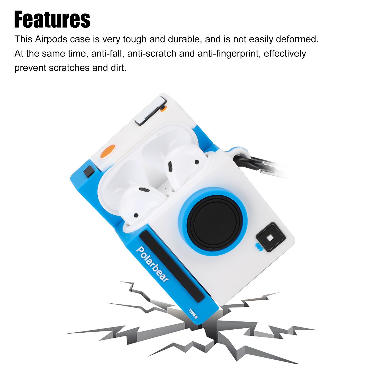 Compatible with Airpods Case Cover, Cute 3D Cartoon Silicone Airpods Protective Skin Case