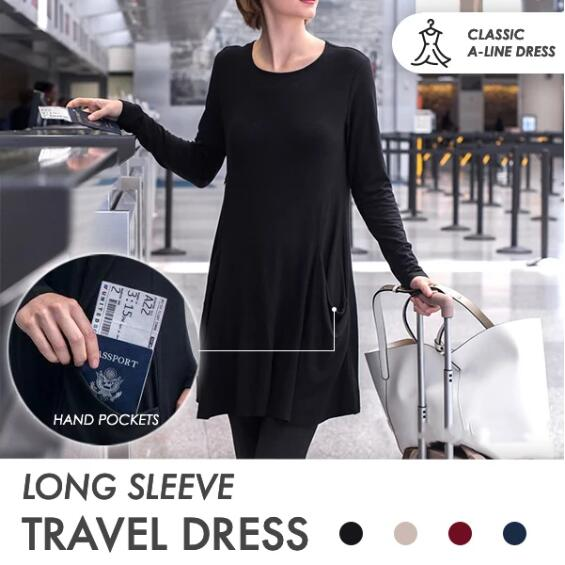 ❣️BUY 2 FREE SHIPPING❣️Long Sleeve Sweatshirt Travel Dress