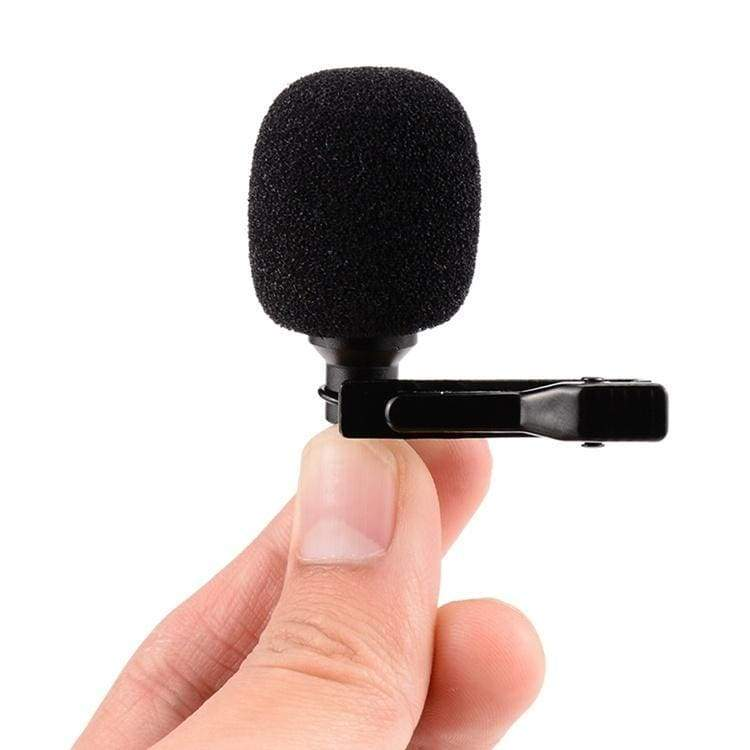 1.5m omnidirectional Metal microphone 3.5mm Jack Lavalier Tie Clip Microphone Mini Audio microphone for laptop phone