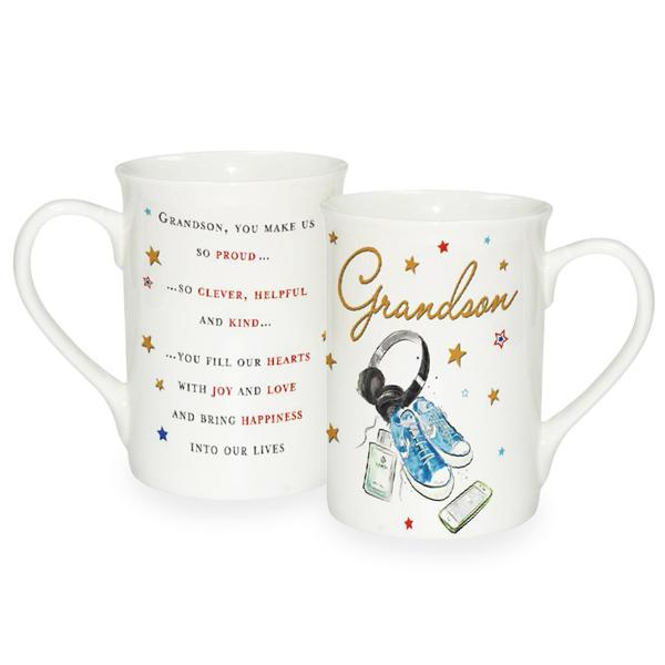 Grandson Sentiments Fine China Mug #fjh
