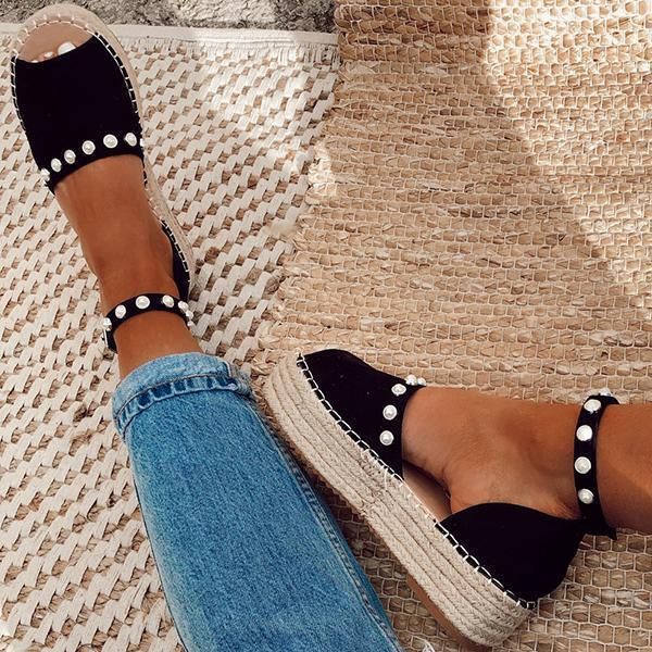 Zoeyootd Chic Flats Adjustable Buckle Sandals