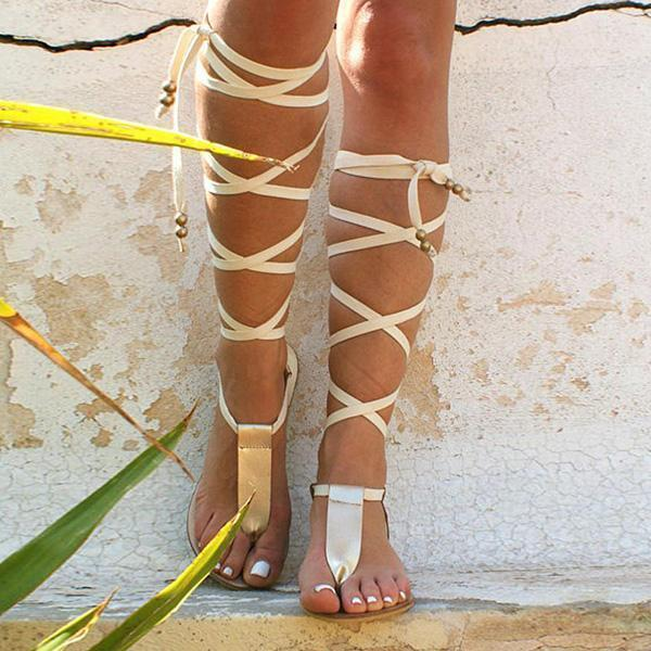 Mokoshoes T-strap Ancient Greek Sandals