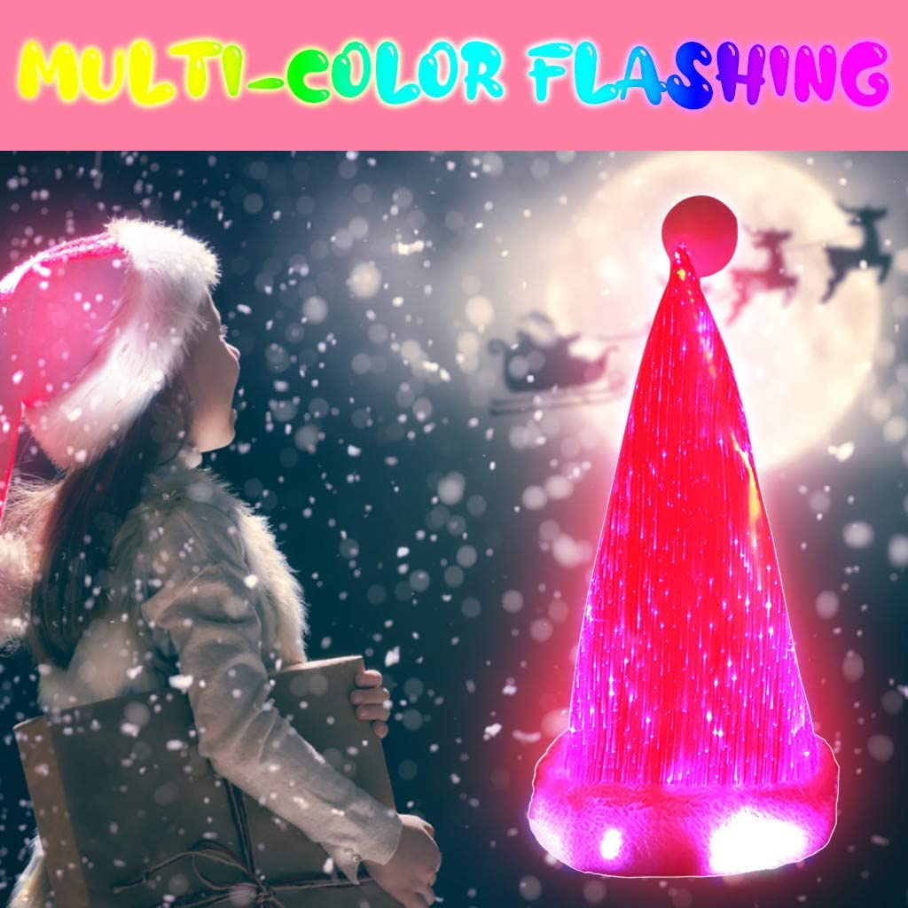 🌟Christmas Hot Sales🌟LED Light Colorful Glowing Santa Hat