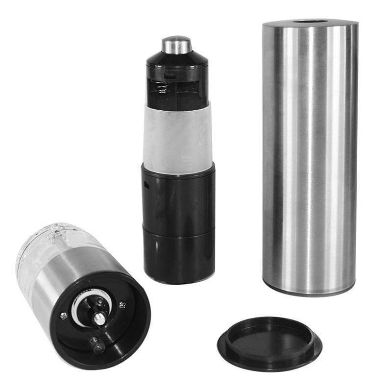 Electric Pepper Salt Grinder Stainless Steel Automatic Herb Spice Muller Adjustable Coarseness Mill Spice Gadget Kitchen Accessories