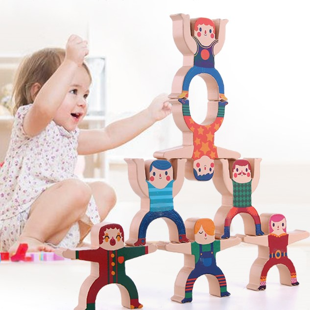 Hercules Balance Stacking High Building Blocks【Thousands of ways to play over TWO BOXES】