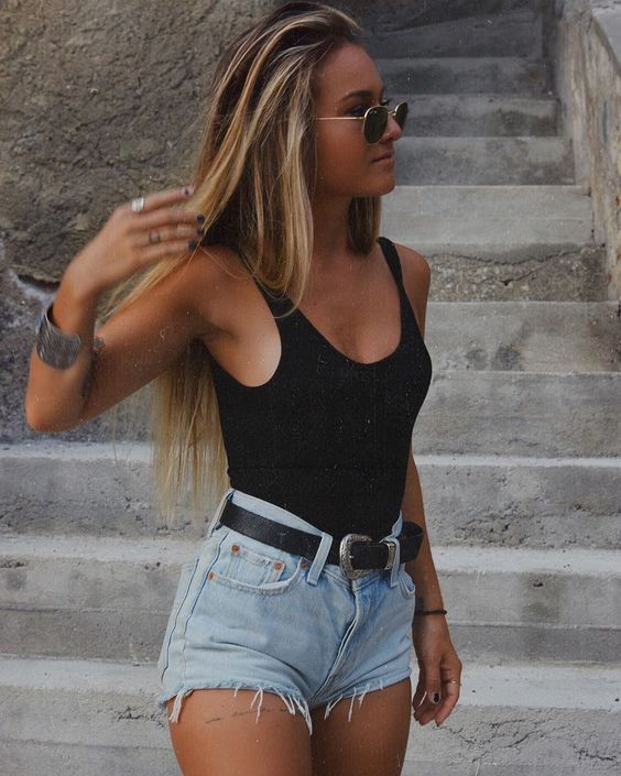 Short Jeans For Women Womens Stretch Denim Shorts Short Maxi Skirt Fitted High Waisted Shorts