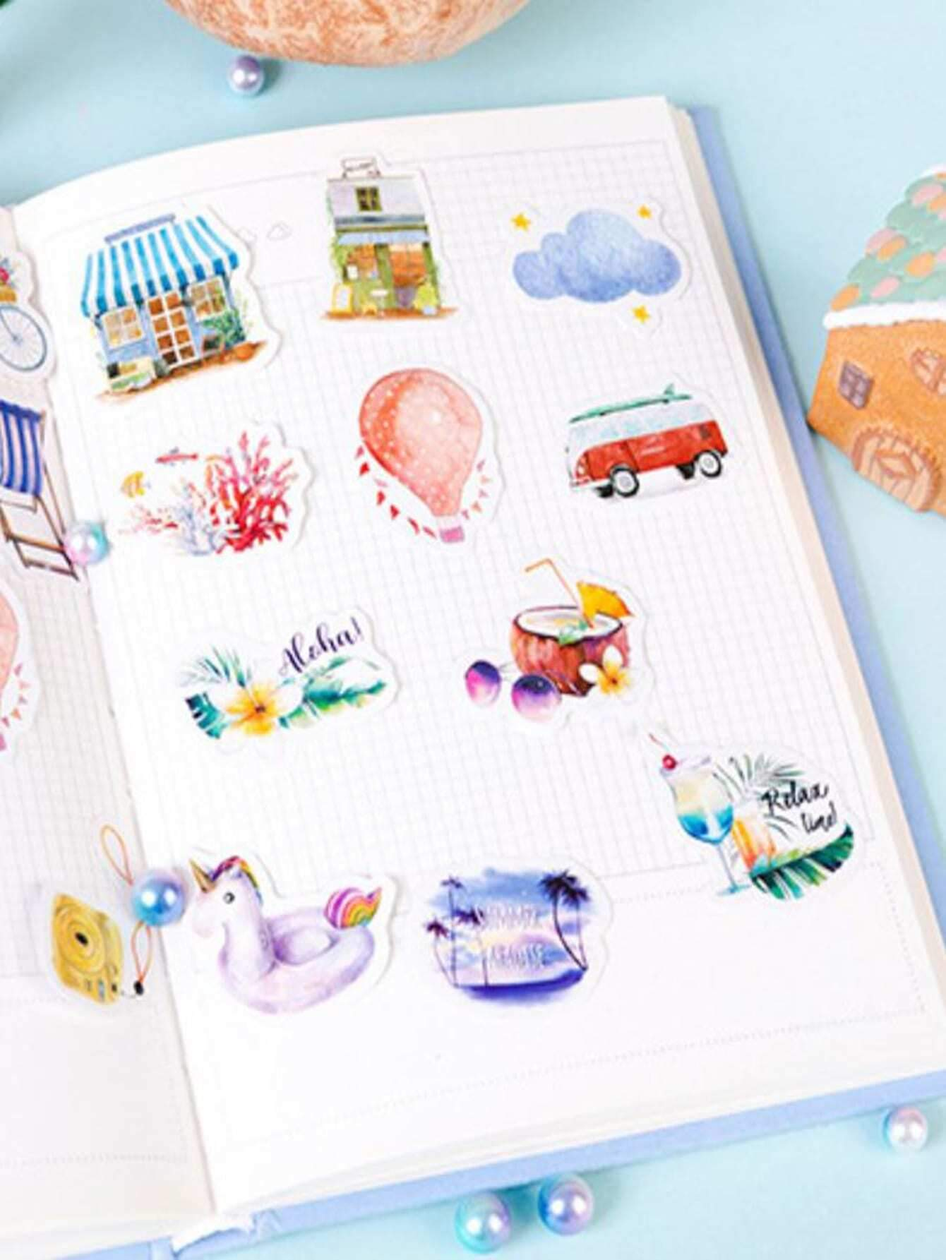 Boxed Mixed Pattern Sticker 46pcs