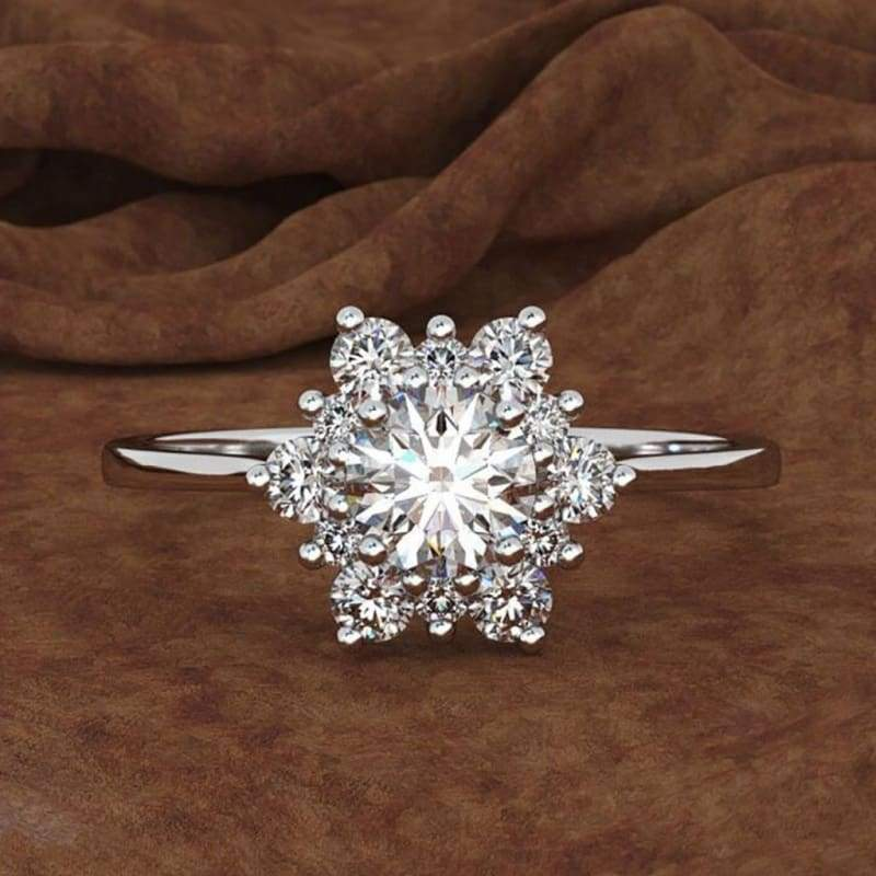 Snowflake Diamond Women's Creative Zircon Ring Band Jewelry Gift