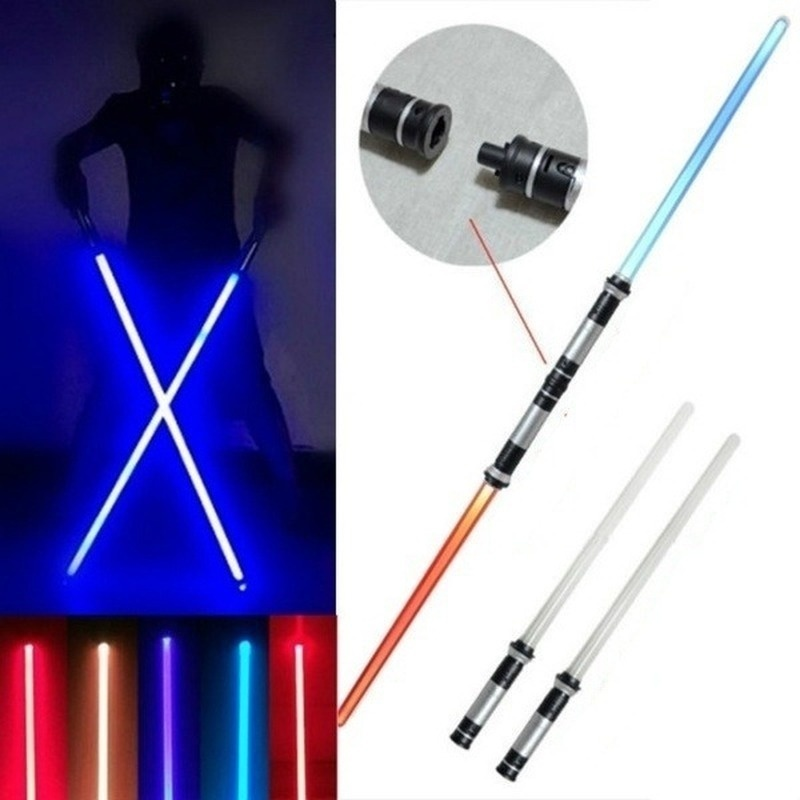 2 Styles Retractable Lightsaber Flashing LED Flashing Sword Laser Toy Weapon Boy Role Playing
