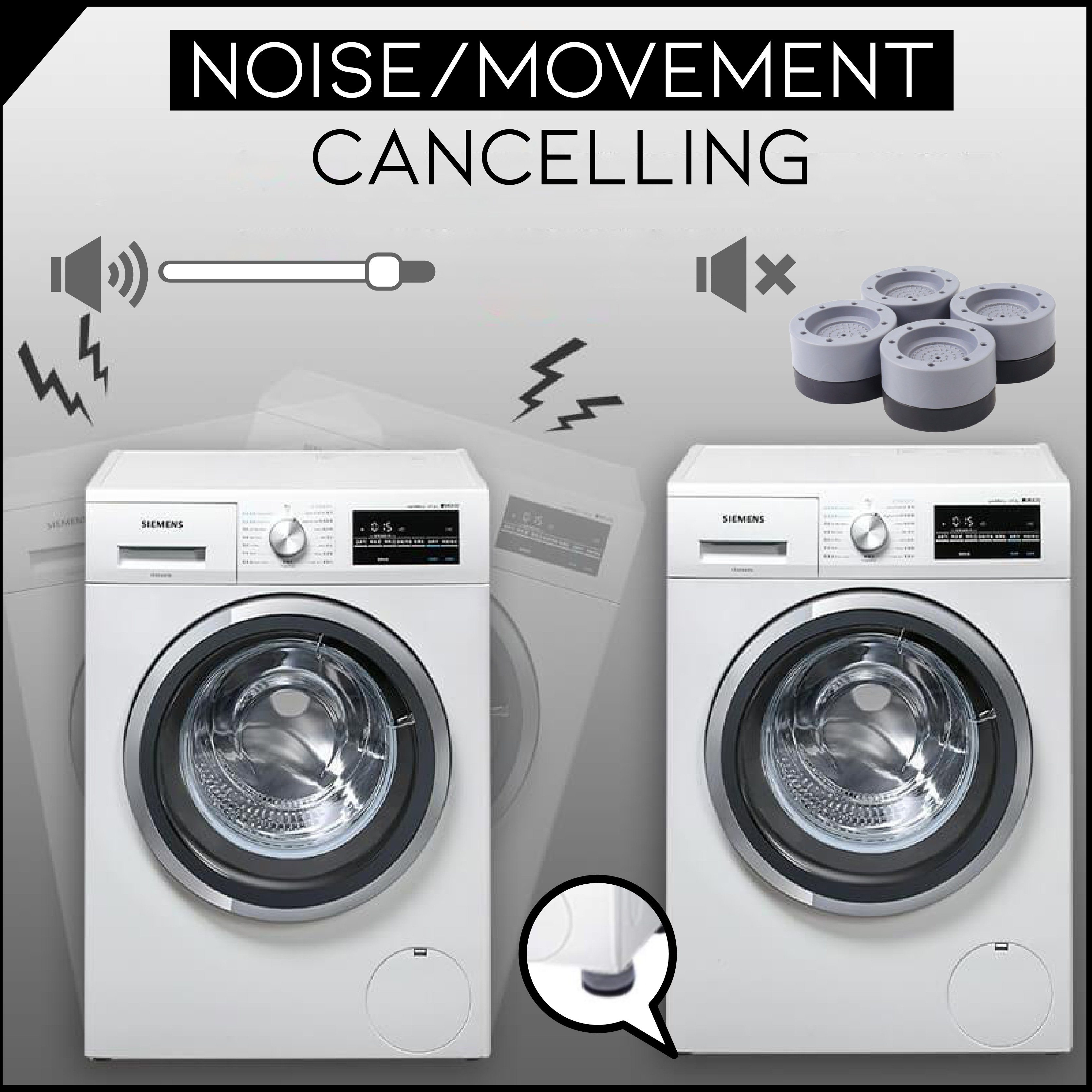 50% OFF---Shock And Noise Cancelling Washing Machine Support