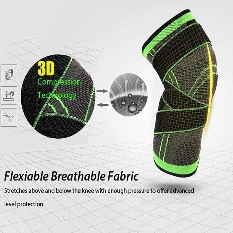 1pc Knee Support Brace Strap Compression Sleeve Sports Protector Adjustable