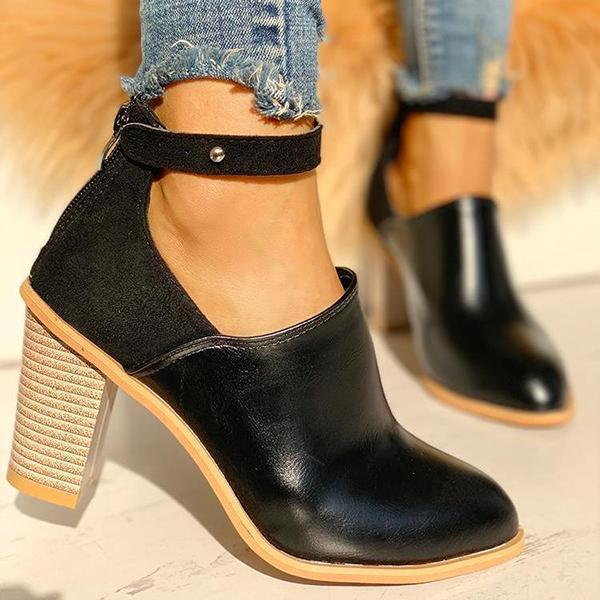 Mokoshoes Ankle Slip On Casual Chunky Boots