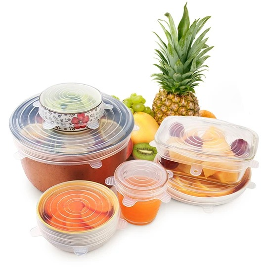 (New Year's Pre-Sale-Save 50% Off)🔥 Kitchen Reusable Silicone Stretch Lids (6 Piece Set)