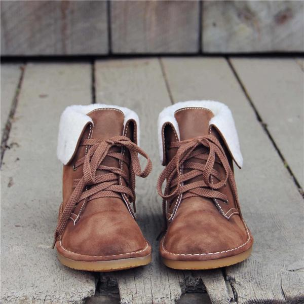 Upawear Winter Warm Suede Lace Boots
