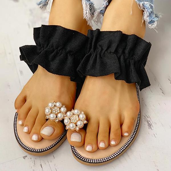 Bonnieshoes Summer Slip-On Daily Beaded Slippers