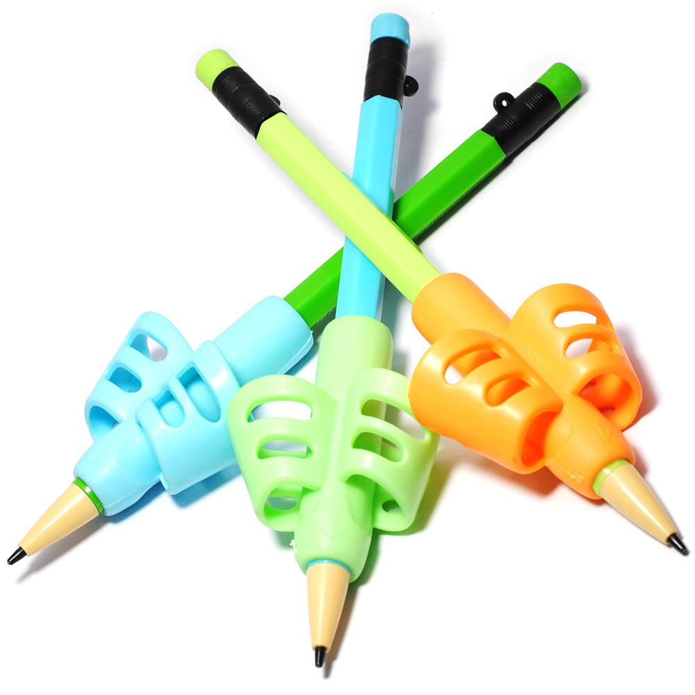 3PCS Silica Gel Pen Grips Baby Kids Child Learning Toy Writing Posture Tools Hold Pen Correction Stationery Set Education Gift