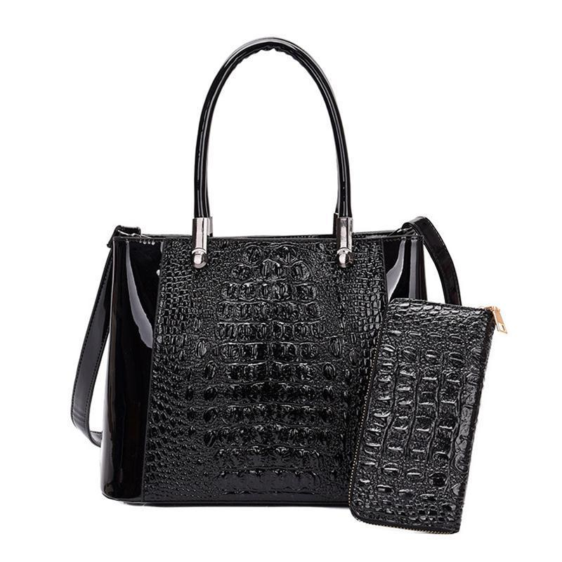 Crocodile lady handbag from Thailand coming with a free wallet