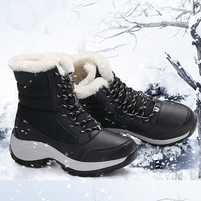 Ladies Velvet Sports Snow Boots