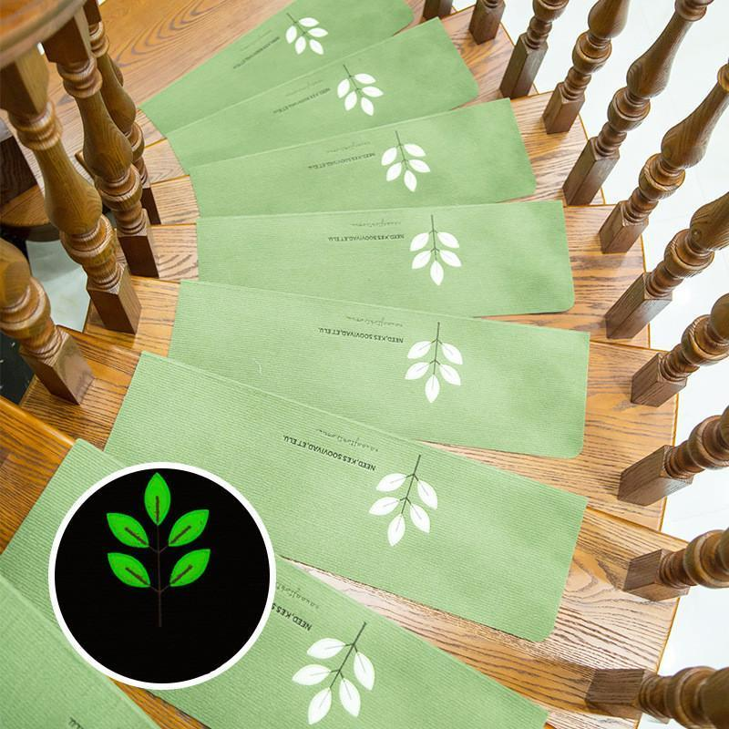 Stair mat stepping carpet absorbent non-slip glue-free self-adhesive luminous non-slip mat