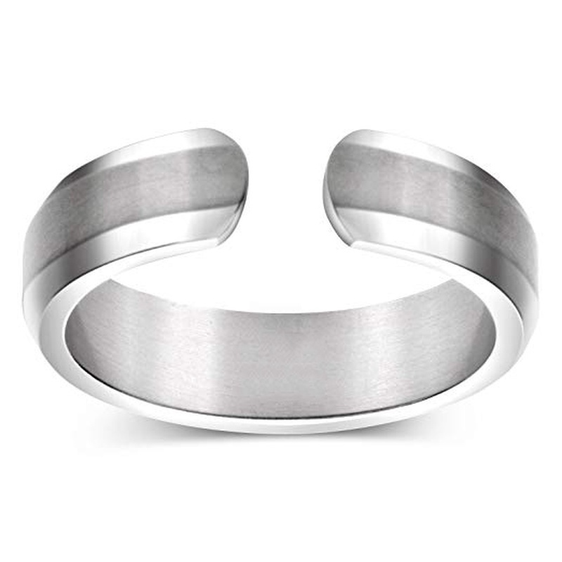 4 Colors Magnetic Therapy Titanium Steel Ring Design for Pain Relief Arthritis Carpal Tunnel