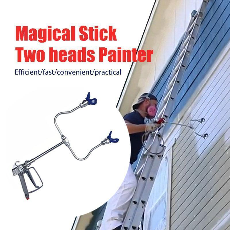 【50% OFF 】Magical Stick Two heads Painter-Spray twice as fast!