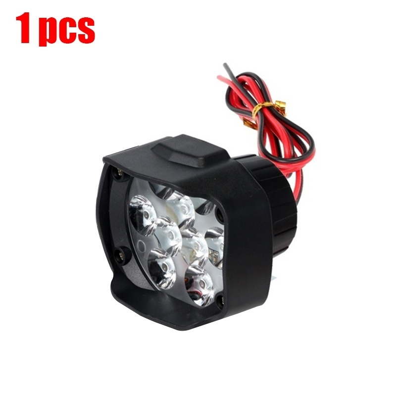 2Pcs 9LED Car Motorcycle LED External Lights Fog Light Headlight Waterproof Lamp Spotlight