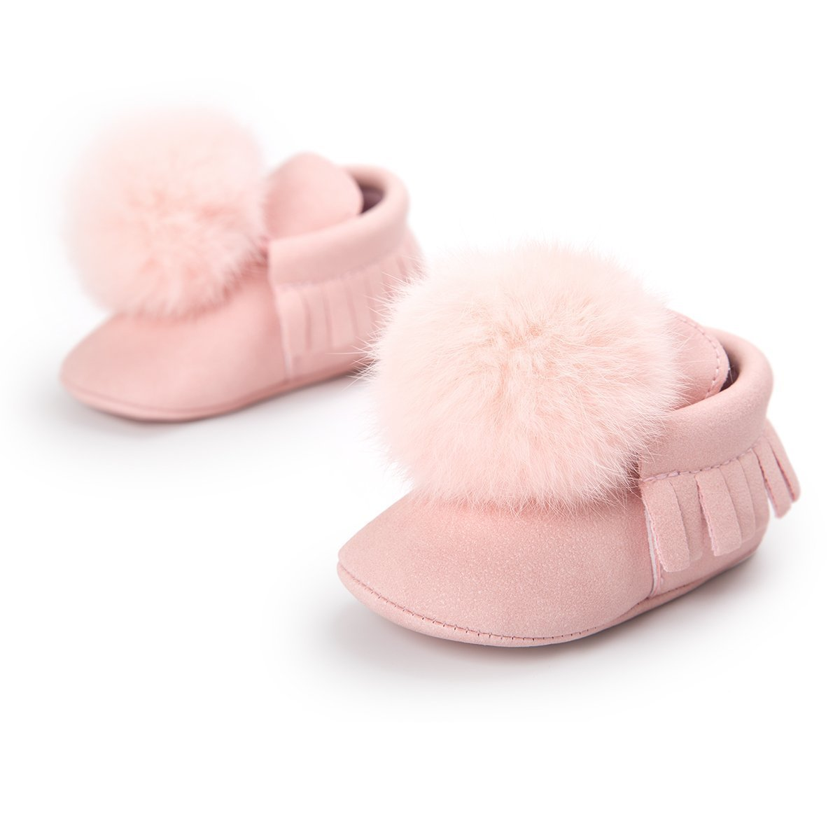 Baby Boy Girl 0-18M Toddler  Pompon ball First Walkers Shoes
